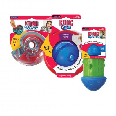 KONG Treat Dispensing Toys Multipack Large For Puppy And Dogs