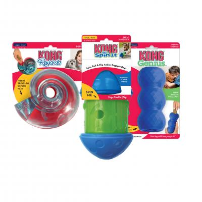 KONG Treat Dispensing Toys Multipack Medium For Puppy And Dogs
