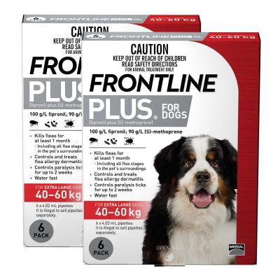 Frontline Plus For Dogs Extra Large 40-60kg 12 Pack