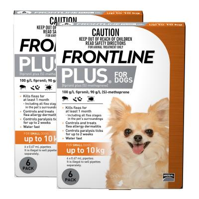 Frontline Plus For Dogs Small Up To 10kg 12 Pack