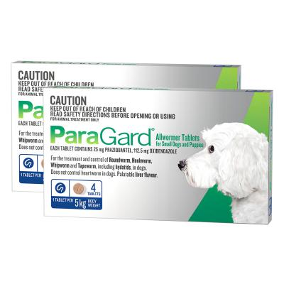 Paragard Allwormer For Dogs 5kg 8 tablets