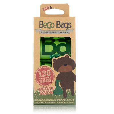 Beco Bags Eco Friendly Degradable Poop Bags For Dogs 120 Pack
