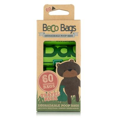 Beco Bags Unscented Poop Bags For Dogs 60 Pack