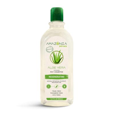 Amazonia Aloe Vera Regenerating Natural Vegan Shampoo For Dogs And Cats 500ml