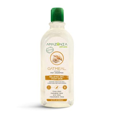 Amazonia Oatmeal Natural Vegan Dry Itchy Skin Shampoo For Dogs And Cats 500ml