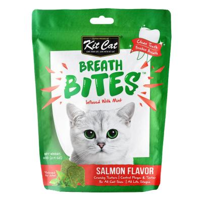 Kit Cat Breath Bites Salmon Dental Treats For Cats 60gm