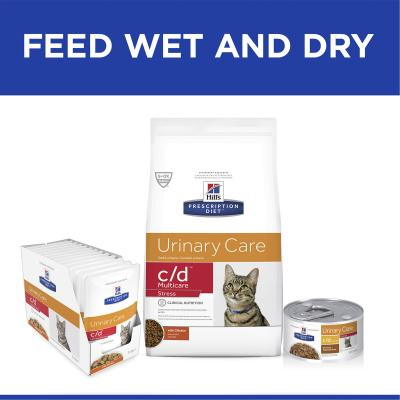 Hills Prescription Diet Feline c/d Urinary Care Multicare Stress Dry Cat Food 7.98kg (603936)