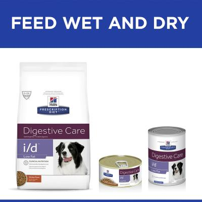 Hills Prescription Diet Canine i/d Digestive Care Low Fat Canned Wet Dog Food 156gm x 24 (3391)
