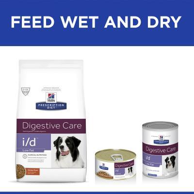 Hills Prescription Diet Canine i/d Digestive Care Low Fat Chicken Dry Dog Food 3.85kg (1861)