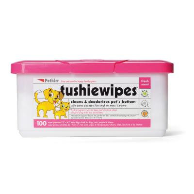 Petkin Tushie Wipes Fresh Scent For Dogs And Cats 100 Pack