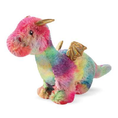 Prestige Snuggle Buddies Ember The Rainbow Dragon Plush Squeak Toy For Dogs