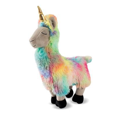 Prestige Snuggle Buddies Aurora The Rainbow Llamacorn Plush Squeak Toy For Dogs