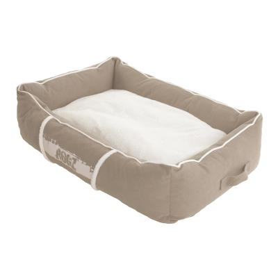 Rogz Comfy Basket Style Lounge Podz Natural Stone Brown White Large Bed For Dogs