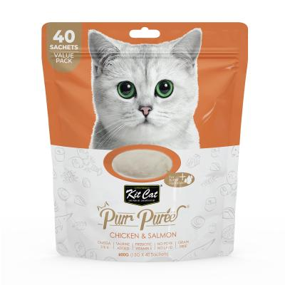 Kit Cat Purr Puree Chicken Salmon Paste Treats For Cats Value Pack 40 x 15gm