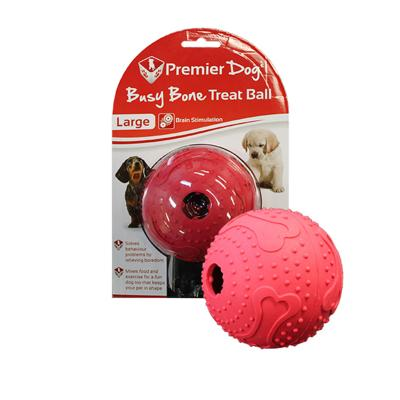 Premier Dog Busy Bone Maze Treat Dispenser Ball Large Red Toy For Dogs