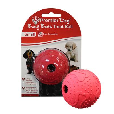 Premier Dog Busy Bone Maze Treat Dispenser Ball Small Red Toy For Dogs