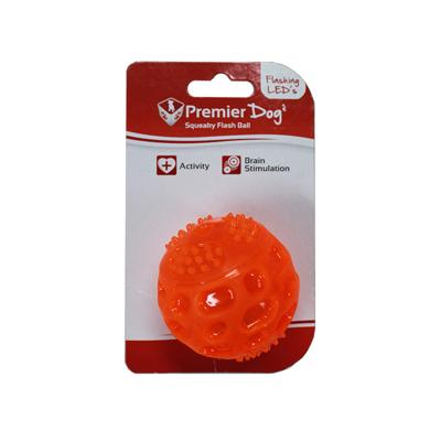 Premier Dog Squeaky Flash LED Light Ball Toy For Dogs
