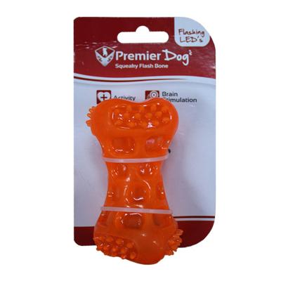 Premier Dog Squeaky Flash LED Light Bone Toy For Dogs