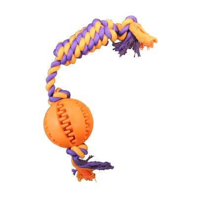 Premier Dog Tug N Scrub Ball Chew Rope Twister Toy For Dogs
