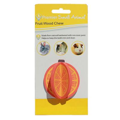 Premier Orange Wood Chew Natural Toy For Small Animals