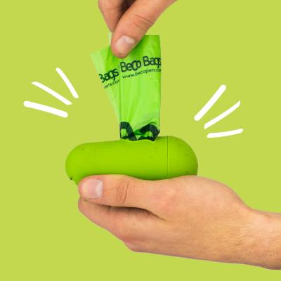 Beco Pod Poop Bag Dispenser With 15 Unscented Bags For Dogs