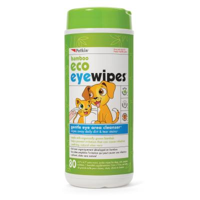 Petkin Bamboo Eco Eye Wipes For Dogs And Cats 80 Pack