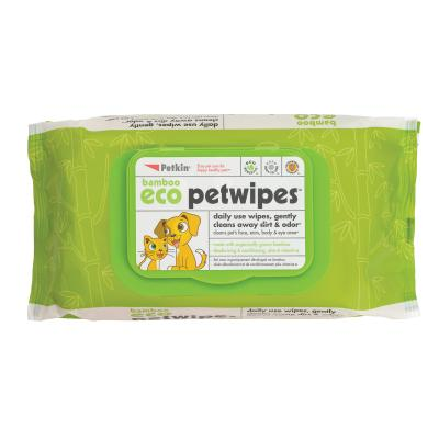 Petkin Bamboo Eco Pet Wipes For Dogs And Cats 80 Pack