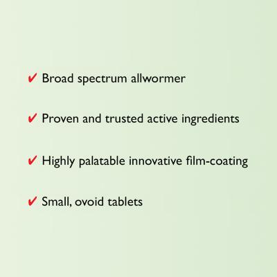 Milpro Broad Spectrum Wormer For Cats Over 2kg 2 Tablets