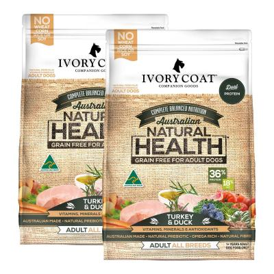 Ivory Coat Natural Health Grain Free Turkey And Duck Adult Dry Dog Food 26kg