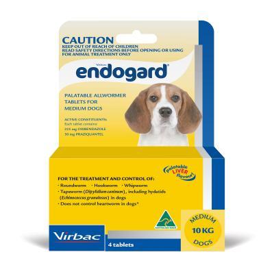 Endogard All Wormer For Dogs Medium 4 Tabs