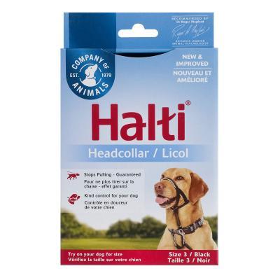 Company Of Animals Halti Headcollar Black Size 3 For Dogs