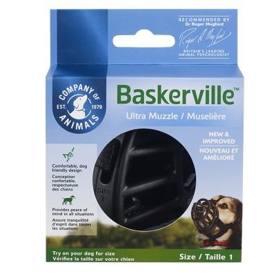 Company Of Animals Baskerville Ultra Comfortable Adjustable Muzzle Size 1 For Dogs