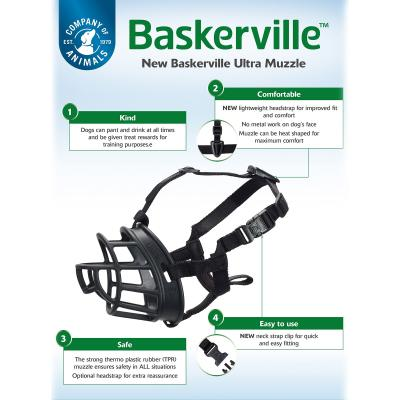 Company Of Animals Baskerville Ultra Comfortable Adjustable Muzzle Size 4 For Dogs