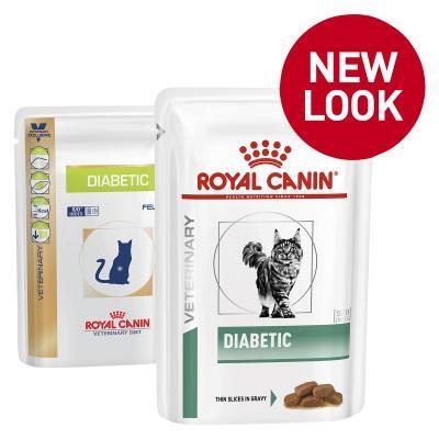 Royal Canin Veterinary Diet Feline Diabetic Pouch Wet Cat Food 85gm x 12