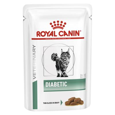 Royal Canin Veterinary Diet Feline Diabetic Pouch Wet Cat Food 85gm x 12