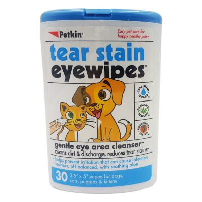 Petkin Tear Stain Gentle Eye Wipes For Dogs And Cats 30 Pack