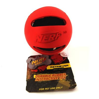 NERF Retriever Rubber Tennis Ball Red Interactive Toy For Dogs
