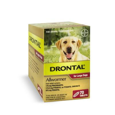 Drontal Allwormer For Dogs Large Up To 35kg 70 Tablets