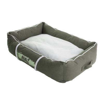 Rogz Comfy Basket Style Lounge Podz Sage Green Cream Medium Bed For Dogs