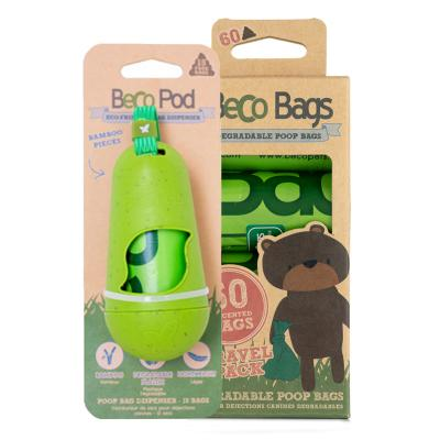 Beco Pod Poop Bag Dispenser With 75 Eco Friendly Degradable Bags For Dogs