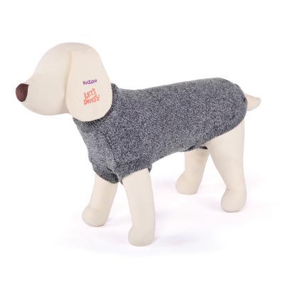 Kazoo Classic Crew Jumper Dog Coat Grey XSmall 33.5cm