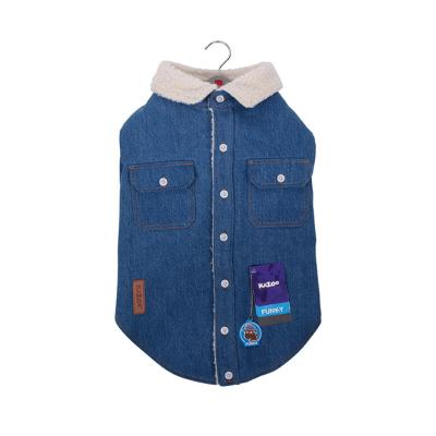 Kazoo Funky Denim Bomber Jacket Dog Coat Medium 46.5cm