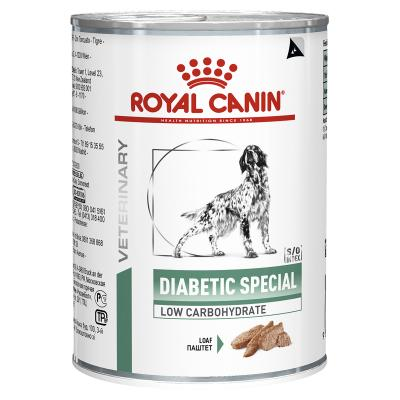 Royal Canin Veterinary Diet Canine Diabetic Special Loaf Canned Wet Dog Food 410gm x 12
