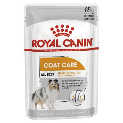 Royal Canin Coat Care Adult Loaf Pouches Wet Dog Food 12 x 85g