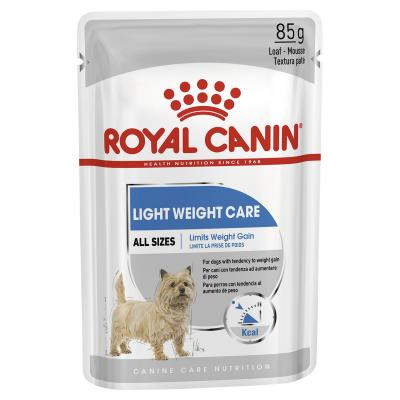 Royal Canin Light Weight Care Adult Loaf Pouches Wet Dog Food 12 x 85g