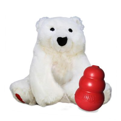 KONG Classic With Plush Polar Bear Play It Forward Medium Toy For Dogs