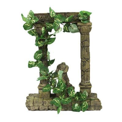 Aquatopia Roman Arch Statue With Vines Ornament For Fish Aquarium