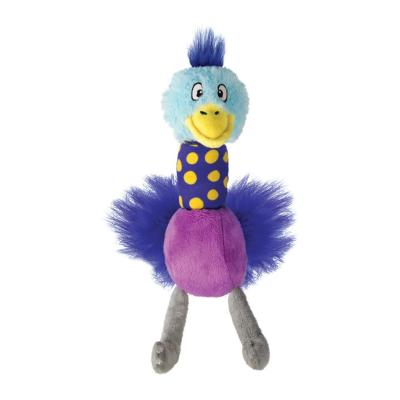 KONG Stretchezz Tugga Ostrich Squeak Plush Toy Large For Dogs