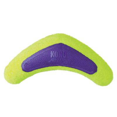KONG AirDog Squeaker Boomerang Nonabrasive Felt Large Toy For Dogs