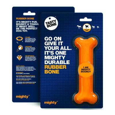 Tasty Bone Mighty Rubber Bounce Bone Toy For Large Dogs